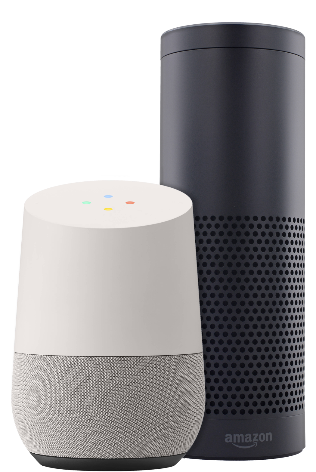 Google Home and Amazon Echo devices
